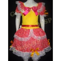 Vestido Junino Festa Junina Caipira Infantil 06 A 07 Anos