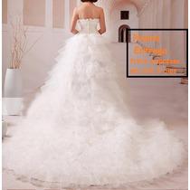 Vestido De Noiva Com Calda Lindo! Pronta Entrega+ Véu Longo