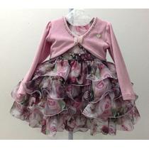 Vestido Infantil Mini Miss De Festa C/ Bolero - Tam 1 / 4