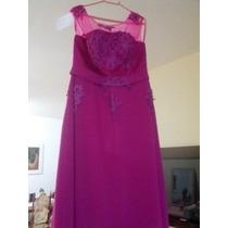 Vestido De Festa Longo Cor Pink Manequim 46