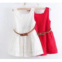 Vestido Branco Em Renda Infantil Festa Ou Casual Verão