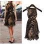 Vestido Soltinho Com Cinto Animal Print - Frete Grátis