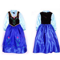 Vestido Princesa Anna Frozen Pronta Entrega 3 A 7 Anos