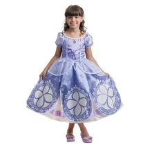 Fantasia Luxo Princesa Sofia Frozen - Tam 3 A 6 - Multibrink
