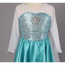 Vestido Frojen - Rainha Elsa - Otimo Preço E Qualidade