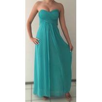 Vestido Longo Verde Agua Casamento Madrinha Debutante Festa