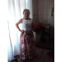 Vestido De Daminha De Honra - Idade 07 Á 09 Anos