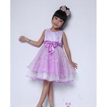 Vestido Infantil Festa Com Tiara Pronta Entrega