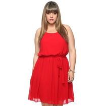 Vestido Regata Soltinho Com Faixa Plus Size Sob Medida