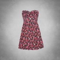 Vestido Feminino Casual Abercrombie Hollister Floral