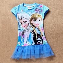 Lindo Vestido Frozen Pronta Entrega Infantil