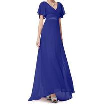 Vestido Longo Em Chiffon - Manequim 48/50