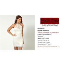 Vestido De Renda Com Forro,cor Branco, A Pronta Entrega.