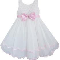 Vestido Infantil Criança Paete Casamento, Formatura, Festa