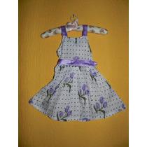 Vestido Floral Lilás-pronta Entrega