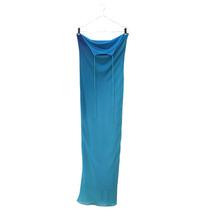 Vestido Longo Degradê Azul, Prende No Pescoço.
