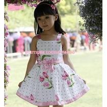Vestido Tulipas Importado Meninas 2 Anos 3 Anos 5 Anos