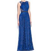 Vestido Renda Guipir Festa Madrinha Casamento Azul Royal