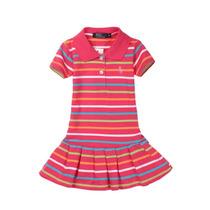 Vestido Polo Importado Meninas Rosa 1 Ano