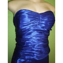 Vestido Festa Longo Azul Royal Tamanho M