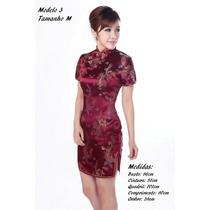 Novo Vestido Estilo Chines Japones Qipao + Pronta Entrega