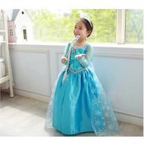 Vestido Importado Elsa Frozen - Pronta Entrega 5 ,6 E 7 Anos