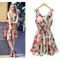 Vestido Florido Primavera Verão 2015 Frete Grátis