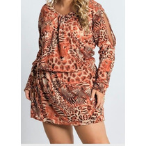 Vestido Estampado Plus Size Gordinha Linda Roupa Grande Gg