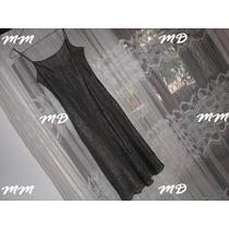 Vestido Tipo Lurex Preto Transparente Com Alcinha ! ! !