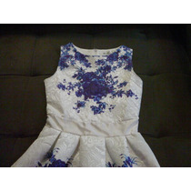 Vestido Elegante E Clássico: Bela Textura - Azul Royal