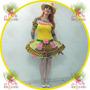 Vestido Junino Caipira Adulto Festa Junina ° Boneca Amarelo