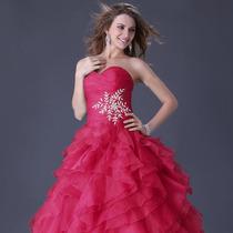 Vestido Rosa Pink P/ Festa 15 Anos Debutante Pronta Entrega