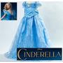 Vestido Cinderella Cinderela Novo Filme Fantasia Luxo!!
