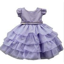 Vestido De Festa Infantil Luxo Princesa Sofia Com Tiara