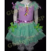 Vestido Junino Festa Junina Caipira Infantil 04 A 05 Anos