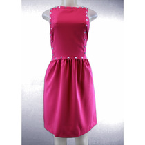 Kensie Vestidos Sem Mangas Studded Chá Vestido Baga Rosa