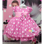 Vestido Minnie Rosa De Festa Luxo Disney - Tam. 1 Ao 3