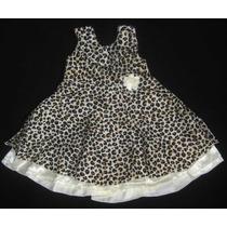 Vestido Festa Fantasia Infantil Oncinha Tema Safari Menina