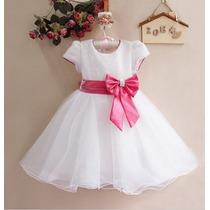 Vestido Infantil Bebês Festa Aniversario Luxo 2 Anos Estoque