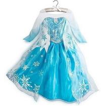 Frozen Disney Elsa Fantasia Luxo - Tamanhos 2-12 Anos
