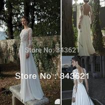 Vestido De Noiva Manga Longa De Renda Sem Costas