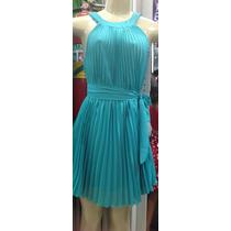 Vestido Plissado Chiffon / Musseline - Moda Verão