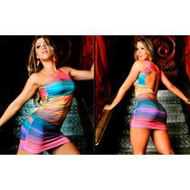 Vestido Arco - Íris Original Lipsoul Justo Balada Panicat