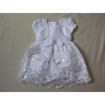 Vestido Infantil Festa/aniversário/batizado Branco Tam 3