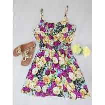 Vestido Florido Primavera Romântico Delicado