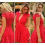 Lindo Vestido Ciganinha Crochê Rendado