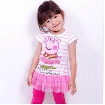 Vestido Infantil Peppa Pig Tutu Importado Pronta Entrega
