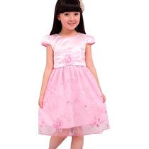 Vestido Infantil Princesa Casamento Aniversário Festa Cetim