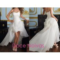 Vestido Noiva Mullet Pronta Entrega Novo Cauda