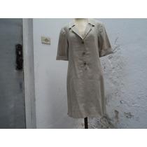 Vestido Clássico Em Linho Sm - Usado